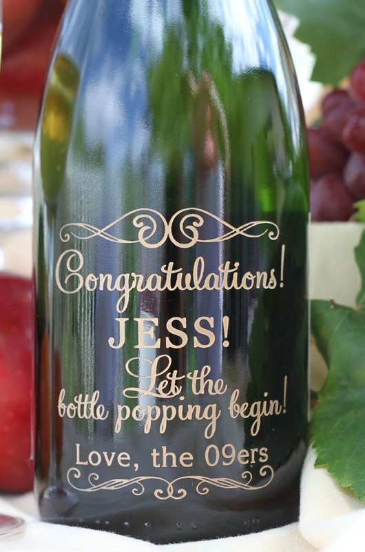 Wedding Guest Book WIne Bottle