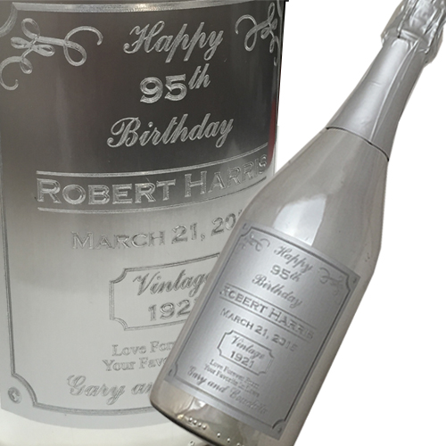 Custom Engraved Label Champagne