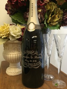 Wedding Guest Book Champagne Bottle