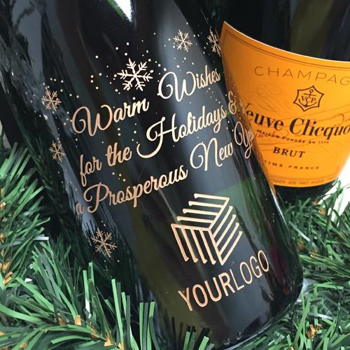 Engraved Champagne Bottles