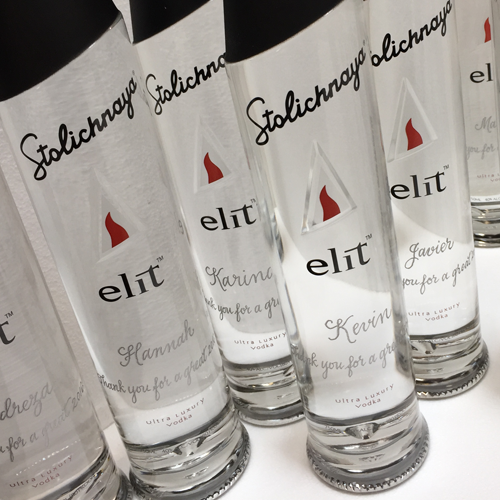 Engraved Vodka Bottles